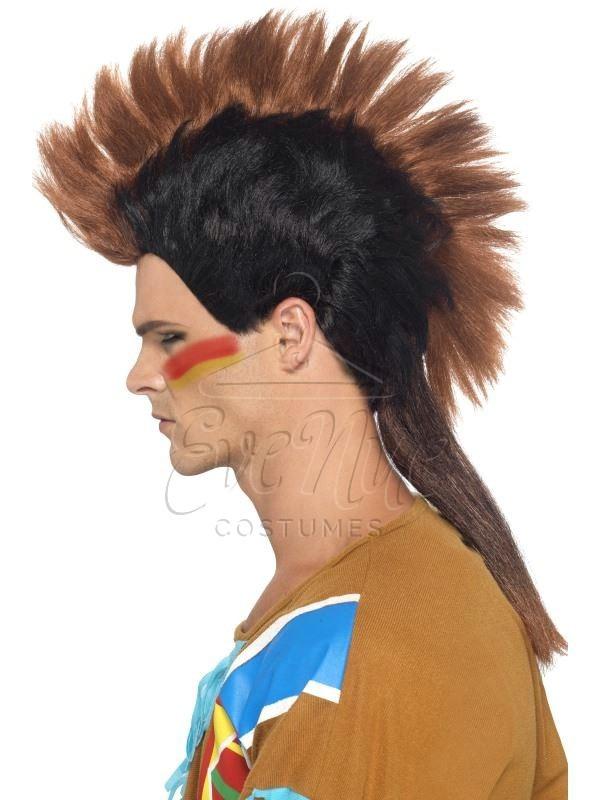 Indián férfi karakter paróka az EveNue COSTUMES jelmezkölcsönző szalon kínálatából