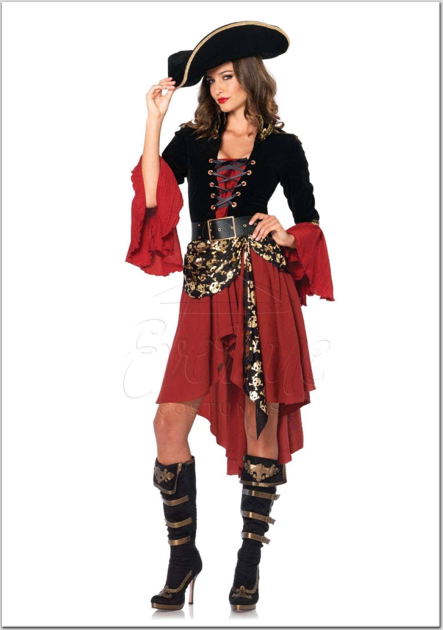 Kalóz kapitány női jelmez az EveNue Costumes jelmezkölcsönző szalon kínálatából