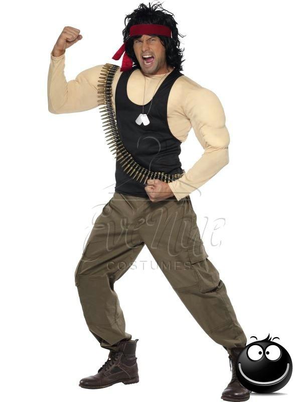 Rambo férfi jelmez az EveNue COSTUMES jelmezkölcsönző szalon kínálatából