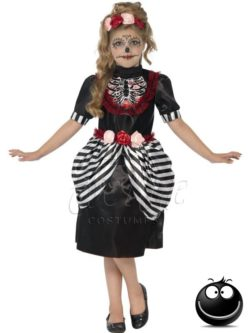 Sugar Skull Halloween lányka jelmez az EveNue COSTUMES jelmezkölcsönző szalon kínálatából