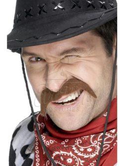 Barna cowboy bajusz az EveNue COSTUMES jelmezkölcsönző szalon kínálatából