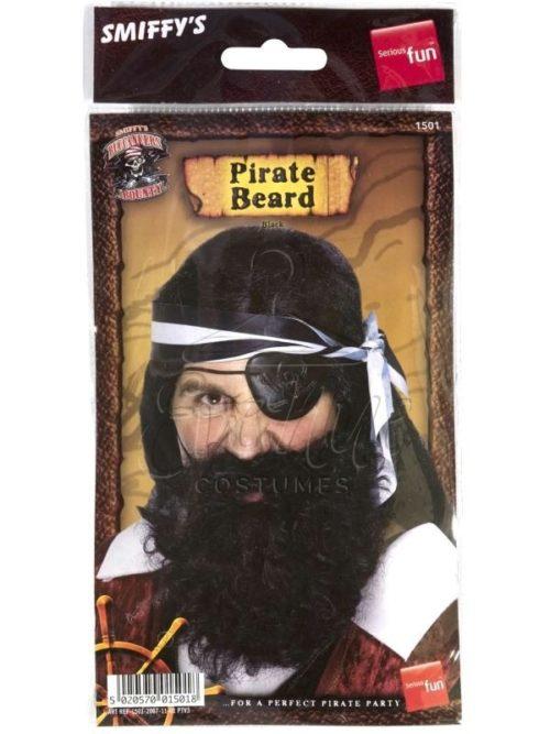 Fekete kalóz szakáll az EveNue COSTUMES jelmezkölcsönző szalon kínálatából