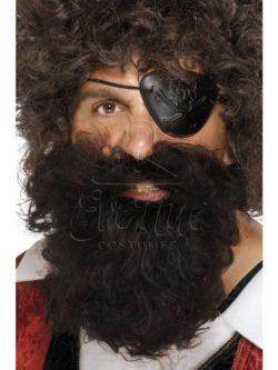 Barna kalóz szakáll az EveNue COSTUMES jelmezkölcsönző szalon kínálatából