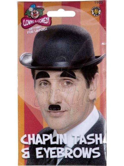 Chaplin szemöldök és bajusz készlet az EveNue COSTUMES jelmezkölcsönző szalon kínálatából