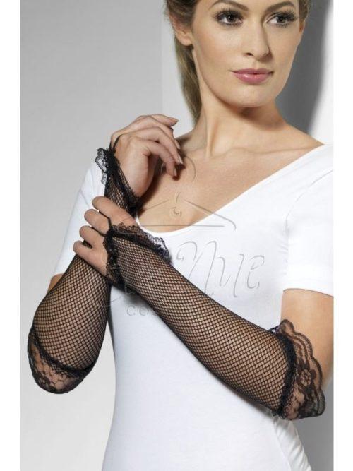 Fekete necc kesztyű az EveNue COSTUMES jelmezkölcsönző szalon kínálatából
