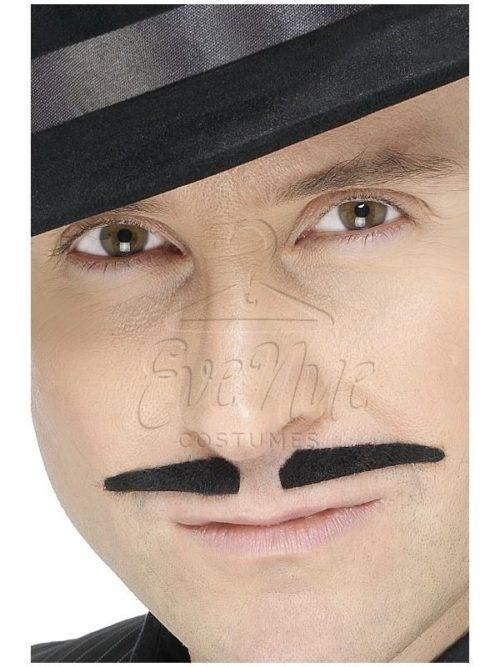 Fekete gengszter bajusz az EveNue COSTUMES jelmezkölcsönző szalon kínálatából