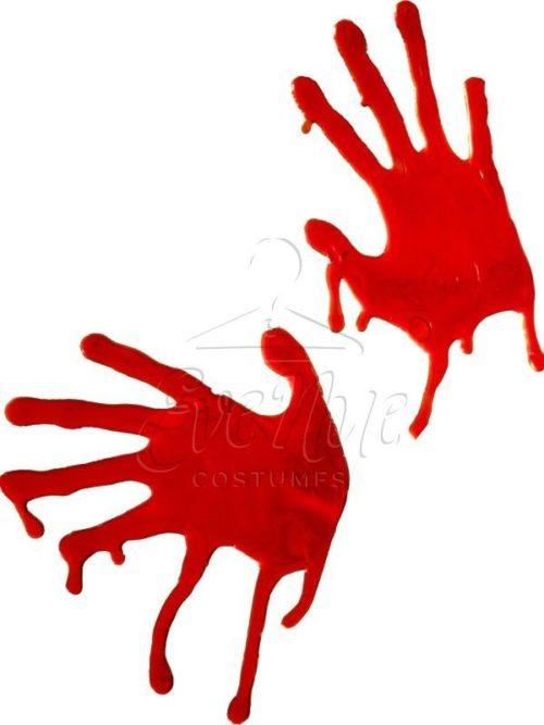 Véres kézlenyomat halloween dekoráció az EveNue COSTUMES jelmezkölcsönző szalon kínálatából