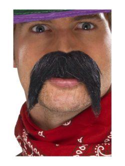 Fekete gringo bajusz az EveNue COSTUMES jelmezkölcsönző szalon kínálatából