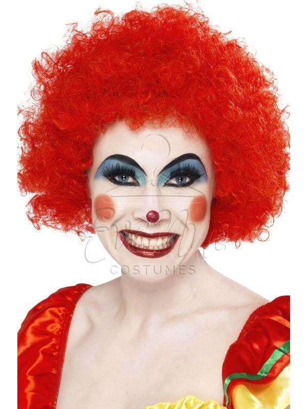 Piros bohóc karakter paróka az EveNue COSTUMES jelmezkölcsönző szalon kínálatából