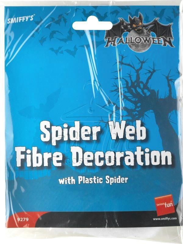Fehér pókháló fekete pókokkal az EveNue COSTUMES jelmezkölcsönző szalon kínálatából