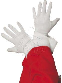 Fehér rövid kesztyű az EveNue COSTUMES jelmezkölcsönző szalon kínálatából