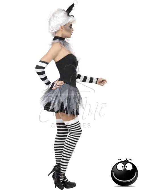 Baljós bohóc Halloween női jelmez az EveNue COSTUMES jelmezkölcsönző szalon kínálatából