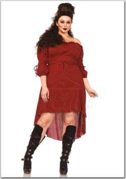 Bordó géz anyagú alapruha az EveNue Costumes jelmezkölcsönző kínálatából