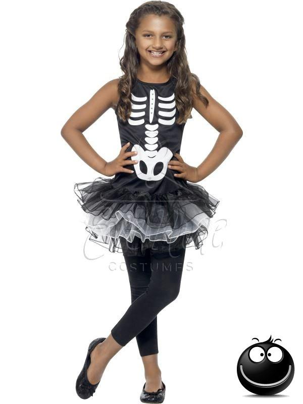 Csontváz Halloween lányka jelmez az EveNuE COSTUMES jelmezkölcsönző szalon kínálatából