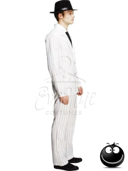 Fehér gengszter férfi jelmez az EveNue COSTUMES jelmezkölcsönző szalon kínálatából