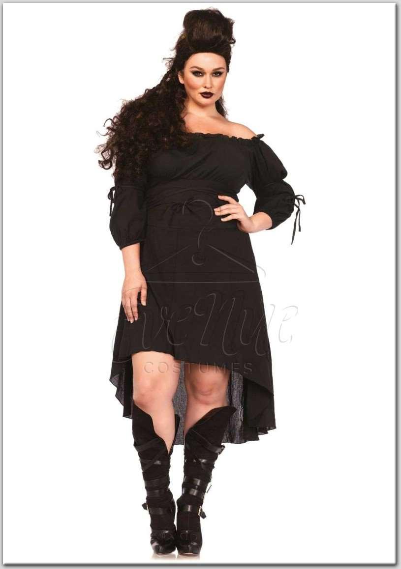 Fekete géz anyagú alapruha az EveNue Costumes jelmezkölcsönző kínálatából