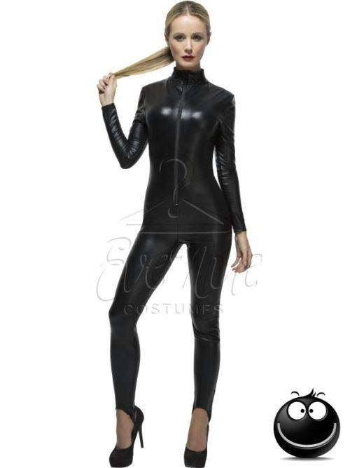 Fekete női overál az EveNue COSTUMES jelmezkölcsönző szalon kínálatából