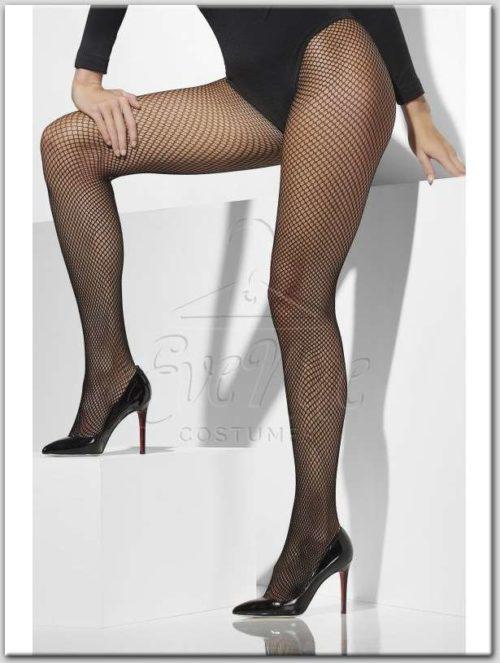 Fekete necc harisnyanadrág extra large méretben az EveNue Costumes jelmezkölcsönző szalon kínálatából