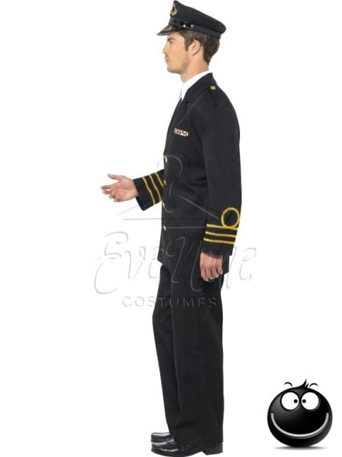 Haditengerész tiszt férfi jelmez az EveNue COSTUMES jelmezkölcsönző szalon kínálatából