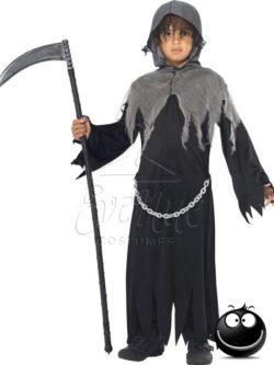 Kaszás Halál Halloween fiú jelmez az EveNue COSTUMES jelmezkölcsönző szalon kínálatából