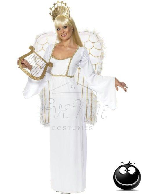 Klasszikus angyal női jelmez az EveNue COSTUMES jelmezkölcsönző szalon kínálatából