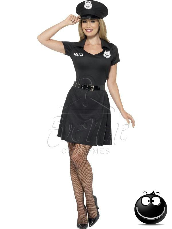 Rendőr farsangi női jelmez az EveNue COSTUMES jelmezkölcsönző szalon kínálatából