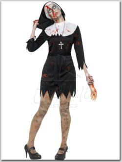 Zombi apáca jelmez az EveNue Costumes jelmezkölcsönző szalon kínálatából