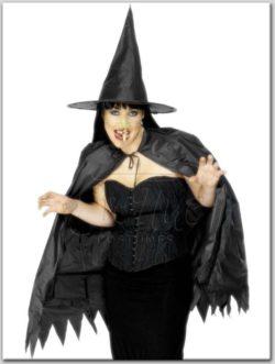 Boszorkány szett Halloween női jelmez az EveNue Costumes jelmezkölcsönző szalon kínálatából