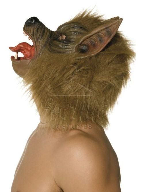 Barna farkas maszk az EveNue COSTUMES jelmezkölcsönző szalon kínálatából