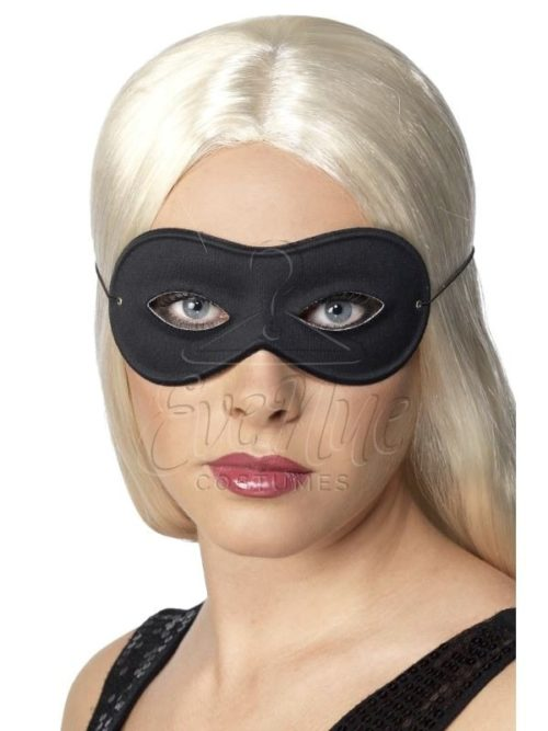 Fekete szemmaszk az EveNue COSTUMES jelmezkölcsönző szalon kínálatából