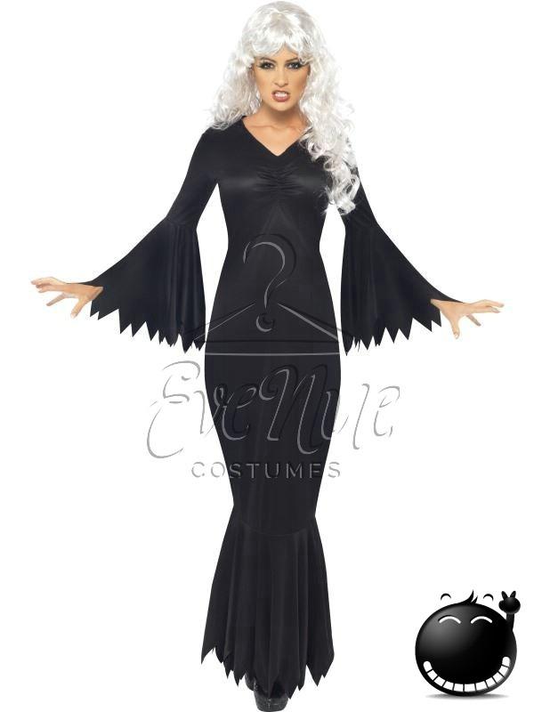 Fekete boszorkány női jelmez az EveNue COSTUMES jelmezkölcsönző szalon kínálatából