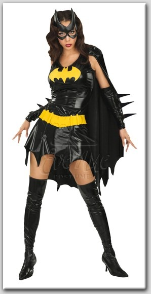 Batgirl női jelmez az EveNue COSTUMES jelmezkölcsönző szalon kínálatából