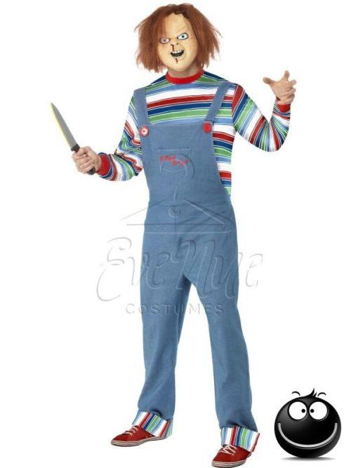 Chucky férfi jelmez az EveNue COSTUMES jelmezkölcsönző szalon kínálatából