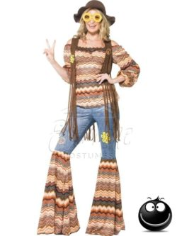 Hippi farsangi női jelmez az EveNue COSTUMES jelmezkölcsönző szalon kínálatából