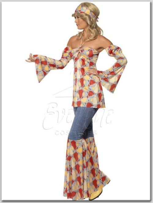 Hippi női jelmez az EveNue COSTUMES jelmezkölcsönző szalon kínálatából