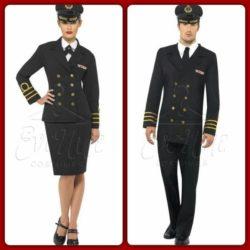 Haditengerész tiszt páros jelmez az EveNue Costumes jelmezkölcsönző szalon kínálatából