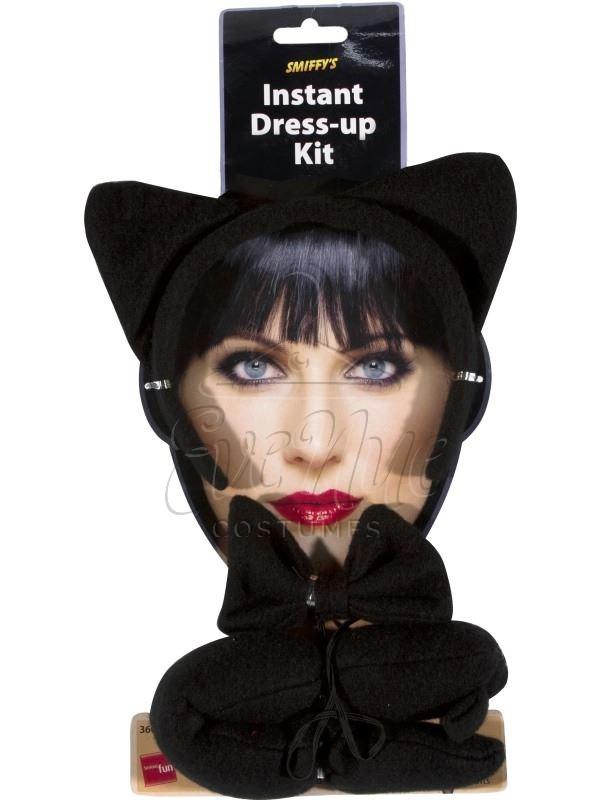 Fekete macska jelmez kiegészítő készlet az EveNue COSTUMES jelmezkölcsönző szalon kínálatából