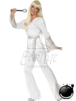 Disco Lady retró női jelmez az EveNue COSTUMES jelmezkölcsönző szalon kínálatából