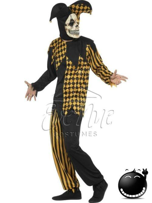 Gonosz udvari bolond halloween férfi jelmez az EveNue COSTUMES jelmezkölcsönző szalon kínálatából