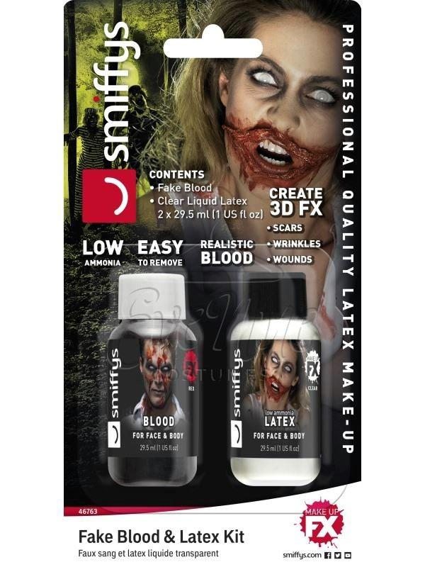 Művér és latex halloween smink készlet az EveNue COSTUMES jelmezkölcsönző szalon kínálatából