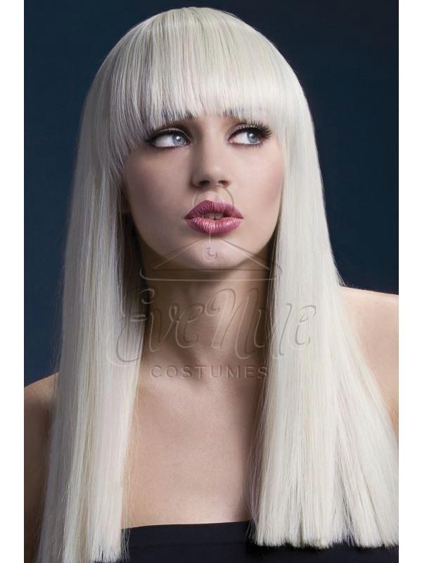 Professzionális szőke női paróka az EveNue COSTUMES jelmezkölcsönző szalon kínálatából